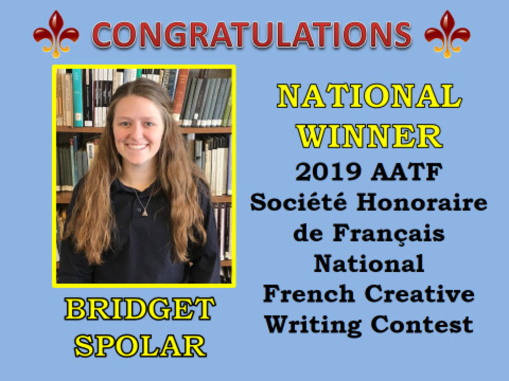Two Beaumont Students Win National French Creative Writing